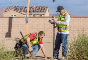 Surveyors at Bonita Village Tract Development